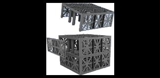 Duborain Rainbox Cube Channel caissons