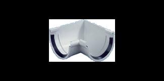 Accessoires - Gouttières demi-rondes - PVC - ISO