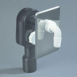 """PE siphon pour machine à laver 3/4"""" x 40/50mm"""