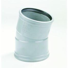 PVC Bocht 110mm 15° 2 x manchetmof SN4/SN8 grijs
