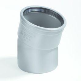PVC Bocht 110mm 15° 1 x manchetmof SN4/SN8 grijs