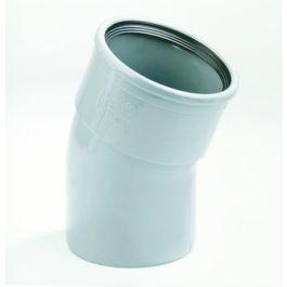 PVC Bocht 125mm 22°30 1 x manchetmof SN8 grijs