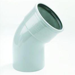 PVC Bocht 110mm 45° 1 x manchetmof SN4/SN8 grijs