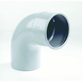 PVC Bocht 110mm 87°30 1 x manchetmof SN4/SN8 grijs