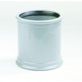 PVC Overschuifmof 110mm 2 x manchetmof SN4/SN8 grijs
