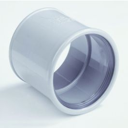 PVC Steekmof 110mm 2 x manchetmof SN4/SN8 grijs