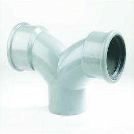 PVC Té flexible 160mm 90° MFF SN8 gris