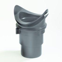 Universele uitloop PVC goot 120mm - 80mm - bruin
