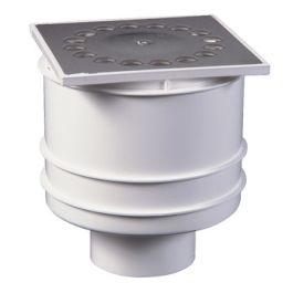 RVS Siphon de douche 10x10 Verticale