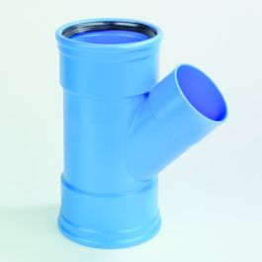 DykaSono T-stuk 110mm 45° 3FM Blauw