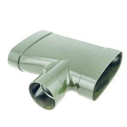Dyka Air verloop T ovaal 80mm 3LV 90gr