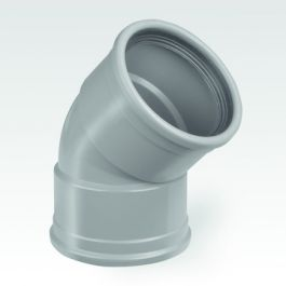 PVC Coude 90 2JI 45gr Gris