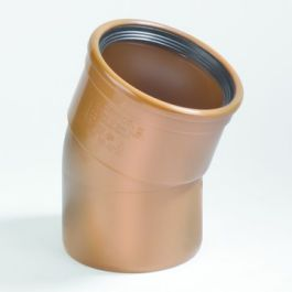 PVC Coude 110mm 22°30 MF Robr SN4/SN8