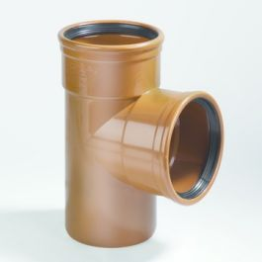 PVC Té 110x110mm 87°30 MFF Robr SN4