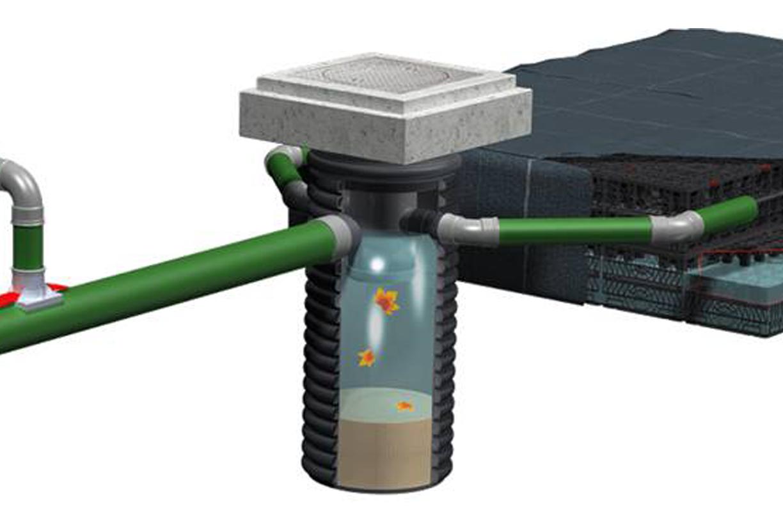 Unité de filtration centrale pour un entretien simple du système d'eau de pluie
